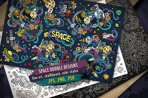 Space Doodles Designs Set