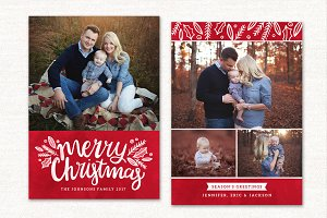 Christmas Card Template CC140