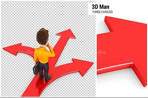 3D Man Three Choices