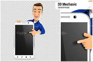 3D Mechanic Blank Smartphone
