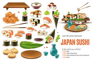 Sale! Japanese Sushi Set