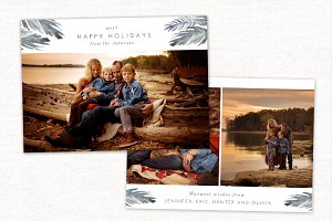 Happy Holidays Card Template CC152