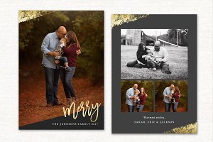 Christmas Card Template Merry CC127