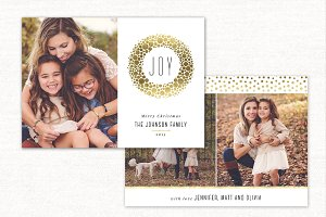 Christmas Card Template Joy CC111