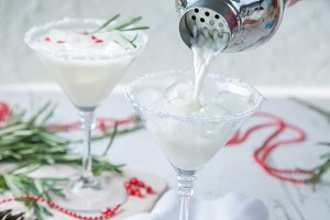 Christmas white margarita punch