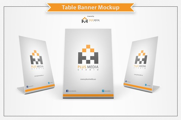 Table Banner Mockup PSD Mockup - Best Design PSD Mockups