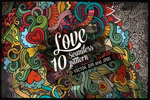 ♥ 10 Love Seamless Patterns