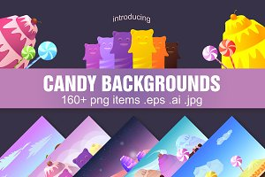 5 Candy Game Backgrounds