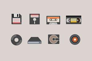 9 Vintage Media Icons