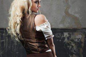 Portrait of a beautiful steampunk