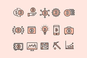 15 Bitcoin Icons