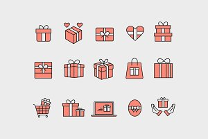 15 Gift and Present Icons