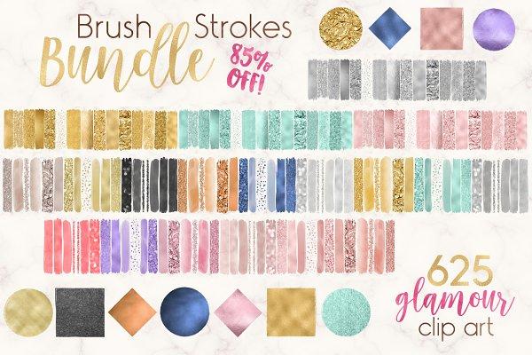 625 in 1 Brush Strokes Bundle