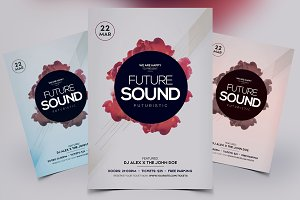 Futuristic Sound - PSD Flyer Vol.2