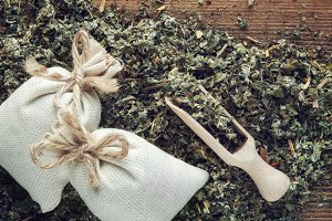 Background of dry medicinal herbs