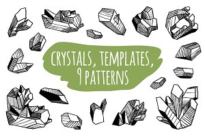 Crystals set + templates + patterns