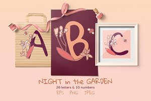 Night garden Monograms