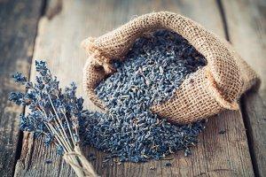 Bag of dry lavender