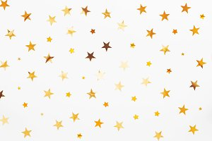 Holiday background, golden stars