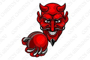 Devil Cricket Sports Mascot