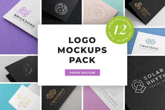 Free Logo Mockup Pack. Paper Edition