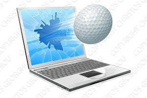 Golf ball laptop screen concept