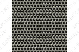 Seamless tiling metal grill pattern