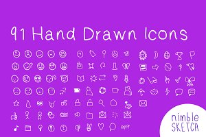 91 Handcrafted Icons