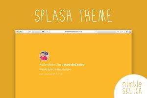 Splash Personal Landing Page