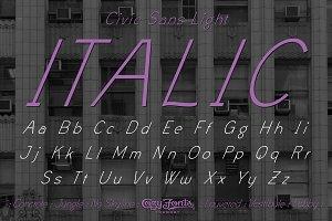 Civic Sans Light Italic