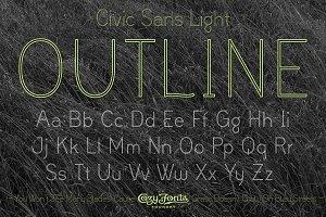 Civic Sans Light Outline