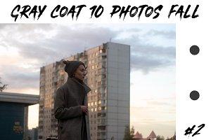 Gray Coat girl 10 Photos Fall