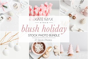 Blush Christmas Stock Photo Bundle