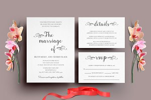 Wedding Invitation Set - IV