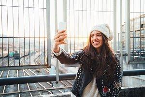 Urban selfie girl