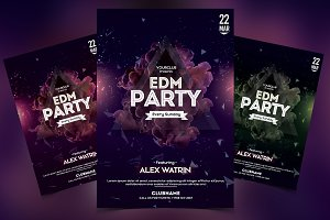 EDM Party - DJ PSD Flyer Template