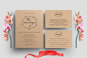 Minimal Wedding Invitation Set