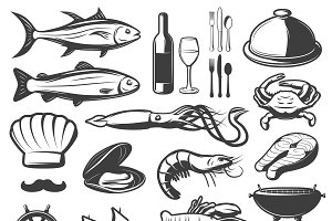 Seafood Icon Set