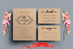 Wedding Invitation Set - VII