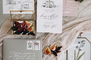 Wedding decoration and calligraphy