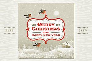 Christmas Signboard Over Landscape