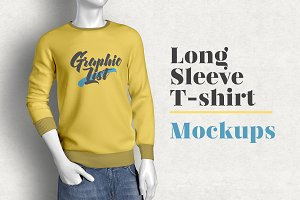 Long Sleeve T-shirt Mockups