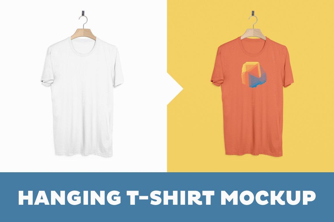 Hanging T Shirt Mockup Template Product Mockups Creative Market