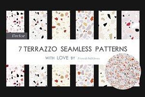 7 Terrazzo seamless patterns