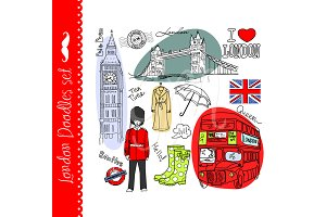 London clip art, Big Ben, Red Bus