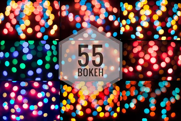 55 Bokeh backgrounds-Graphicriver中文最全的素材分享平台