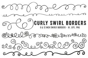 Swirl Borders - PNG + Brushes