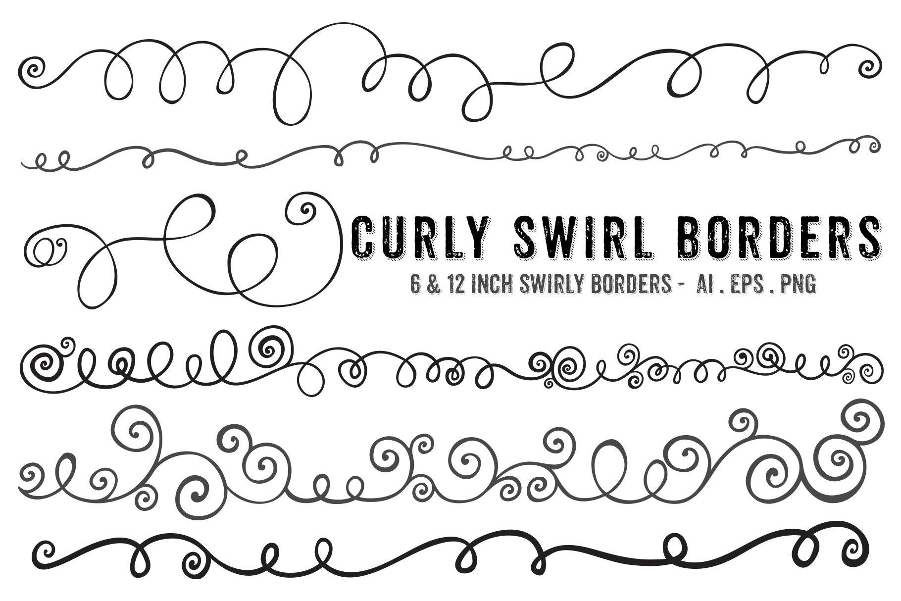 swirl borders png brushes brushes creative market pro