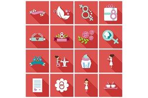 Set of weddings icons
