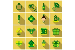 Set of weddings icons